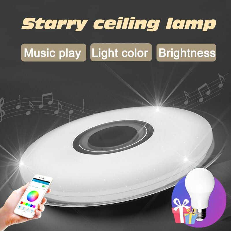 Bluetooth music modern led ceiling lights for living room bedroom crystal star light fixtures christmas decorations for home