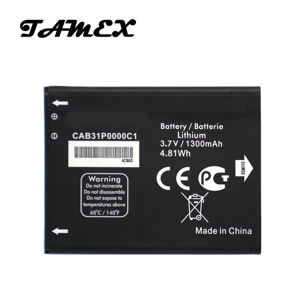 CAB31P0000C1 New Replacement Battery For Alcatel one touch 4033D 4032D POP C3 Pixi 4007D BY71 Phone Batterie Batterij 1300mAh