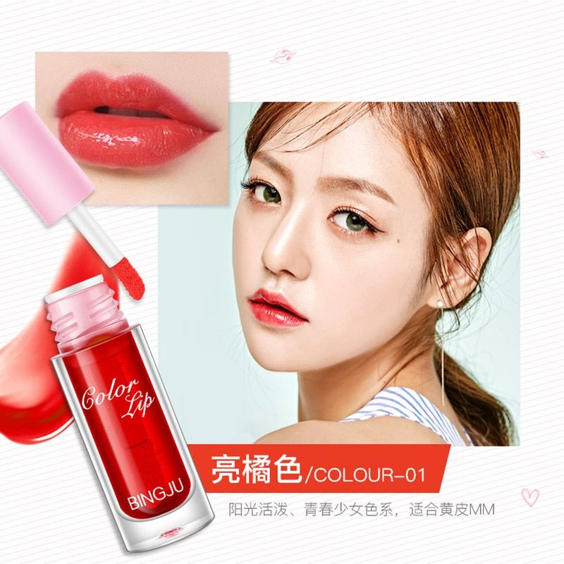 Red Wine Bottle Stained Matte Lip Gloss Tint Liquid Lipstick Easy to Wear Non-stick Lipgloss