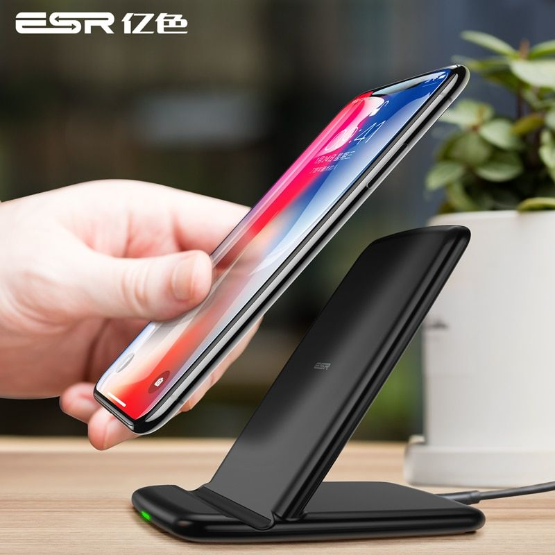 ESR Qi Wireless Charger For iPhone X 8 plus Fast Charging Docking Wireless Charger for Samsung Note 8 S9 S8 Plus S7 S6 Edge