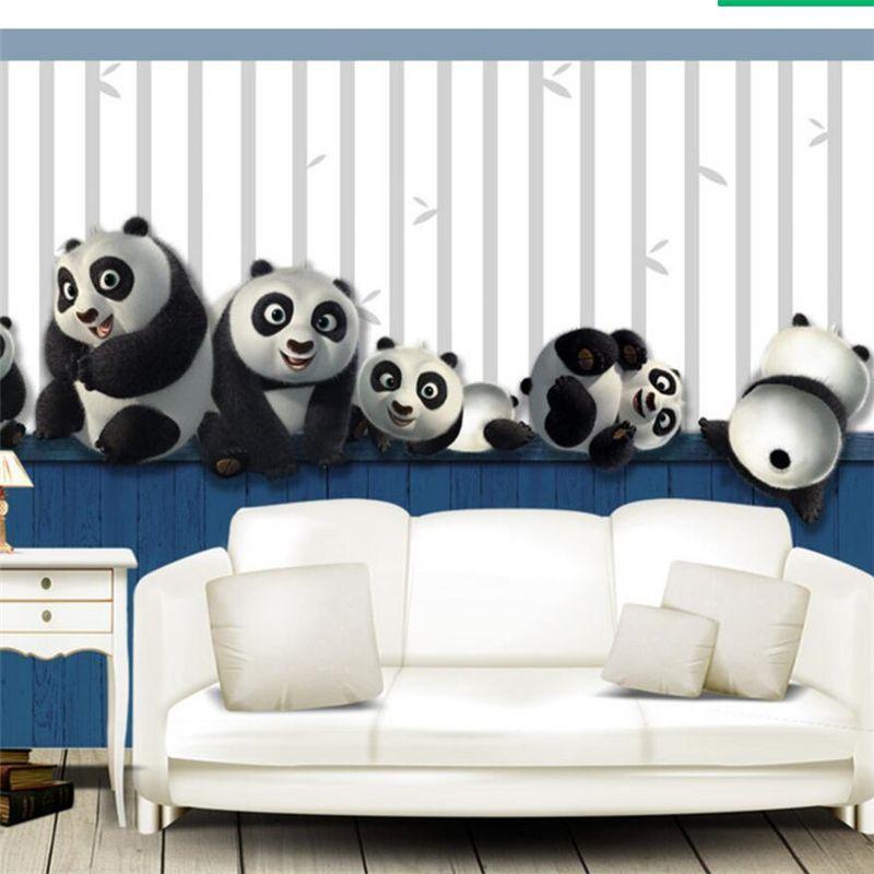 Beibehang Papel Parede пользовательские обои HD полный слой 3D милый озорной играть панда ТВ стены обои для гостиной скачать