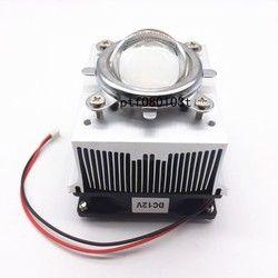 20-100W LED Aluminium Heat Sink Cooling Fan + Reflektor Braket + 44 Mm Lensa 60-80degree