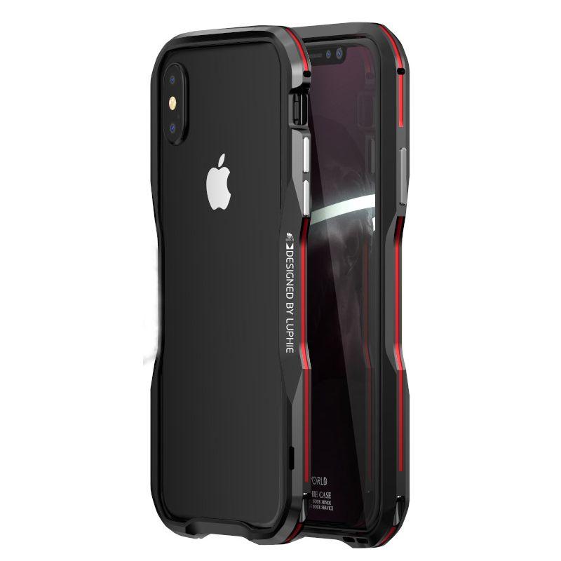 Pour Apple iphone X Cas Couverture De Luxe Pare-chocs Mince Dur 3D 360 Coque De Protection En Métal Pare-chocs pour iphoneX 8 Cadre En Aluminium Armure