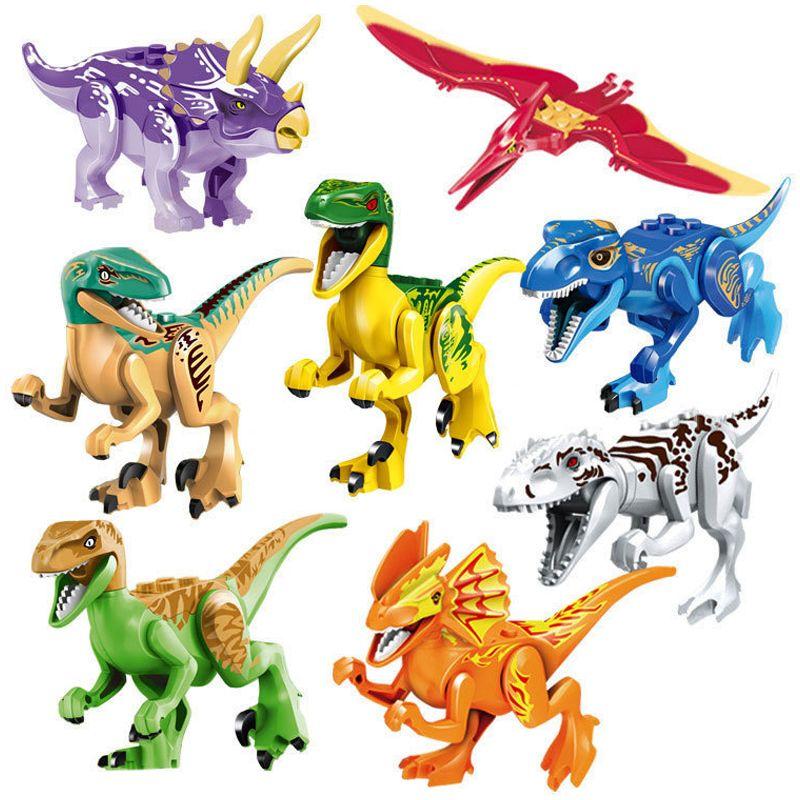 Monde jurassique Dinosaures Modèle Kits de Construction Chiffres Legoings Marvel Coloré Dinosaure Chiffres Blocs Jouets Pour Enfants Cadeaux