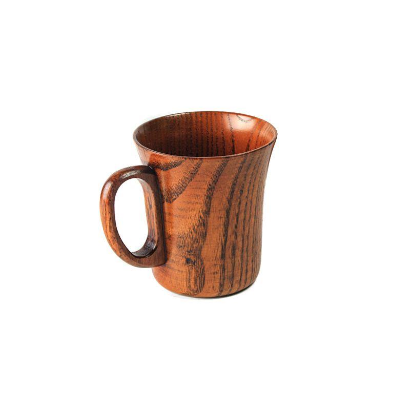 Оптовая продажа ручной работы из натурального дерева деревянные кружка Универсальный завтрак пиво молоко Кофе чашки для barware домашний офис...