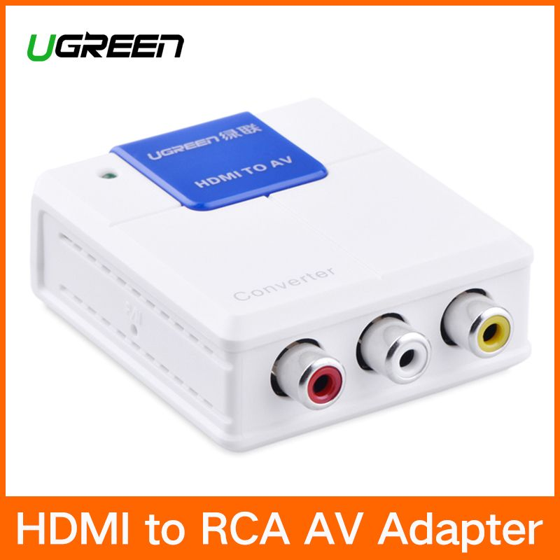 Ugreen HDMI to RCA AV Converter 1080P HDMI to AV Video Adapter HDMI Connector For Android TV Smart Box Laptop Chromecast PC PS3