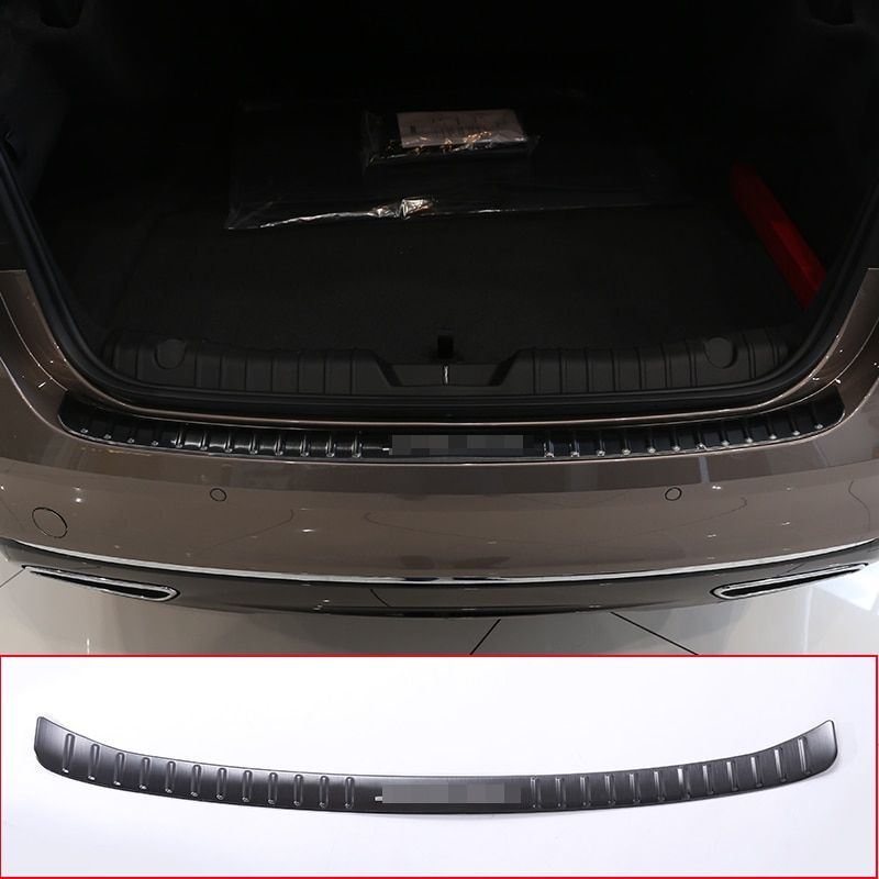 For Jaguar XF 2016 2017 304 Stainless Steel Rear Bumper outside Sill Plate Protector Cover Trim Sticker