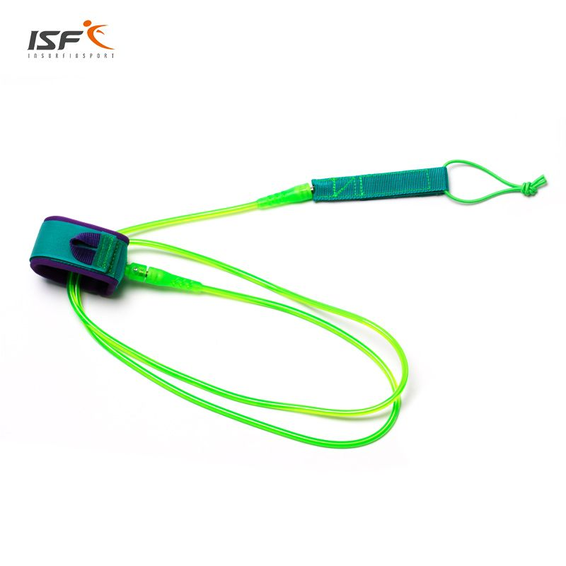 Surfing 6ft-12ft 7mm Surfboard Leash Rope Stand Up Paddle Board Leash Polyurethane TPU Nylon Stainless steel Surf Leash for surf