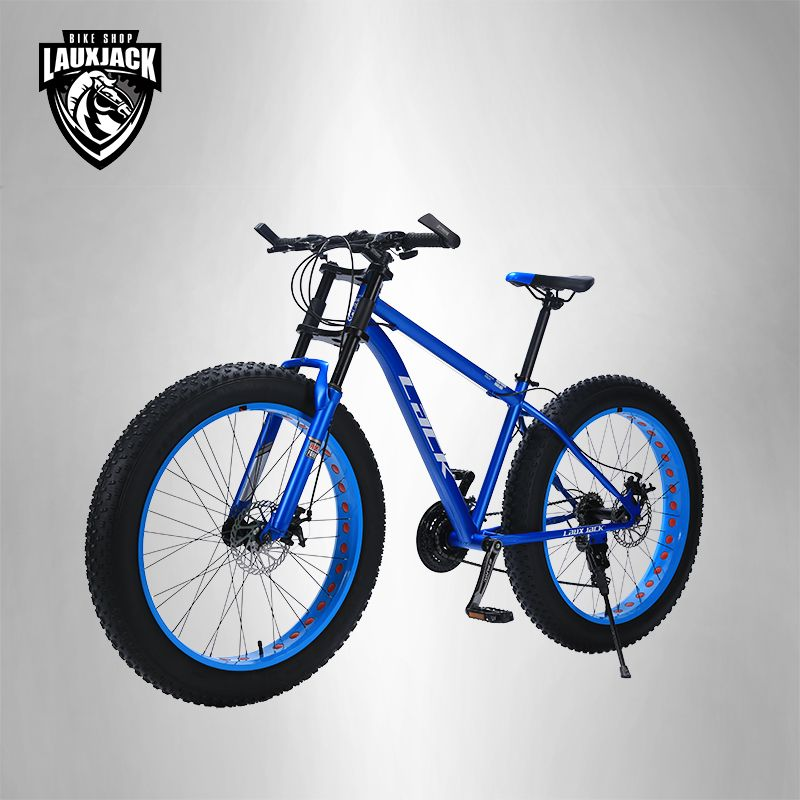 LACK Mountain Bike FatBike Steel Frame 24 Speed Shimano Disc Brakes 26