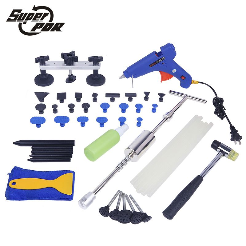 Super PDR dent repair tool kit car body dent removal hand tool set Paintless Hail Damage Repair Devices Set Door Dings Repair