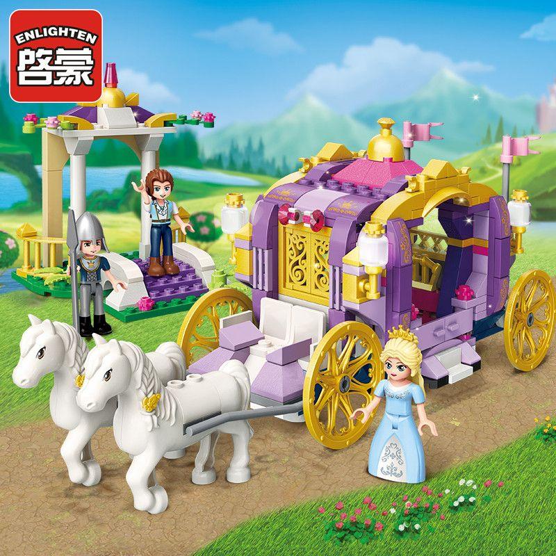 Enlighten Building Block Girls Friends Princess Leah Rainbow Windmill Square 2 Figures 209pcs Educational Bricks Toy-No Box
