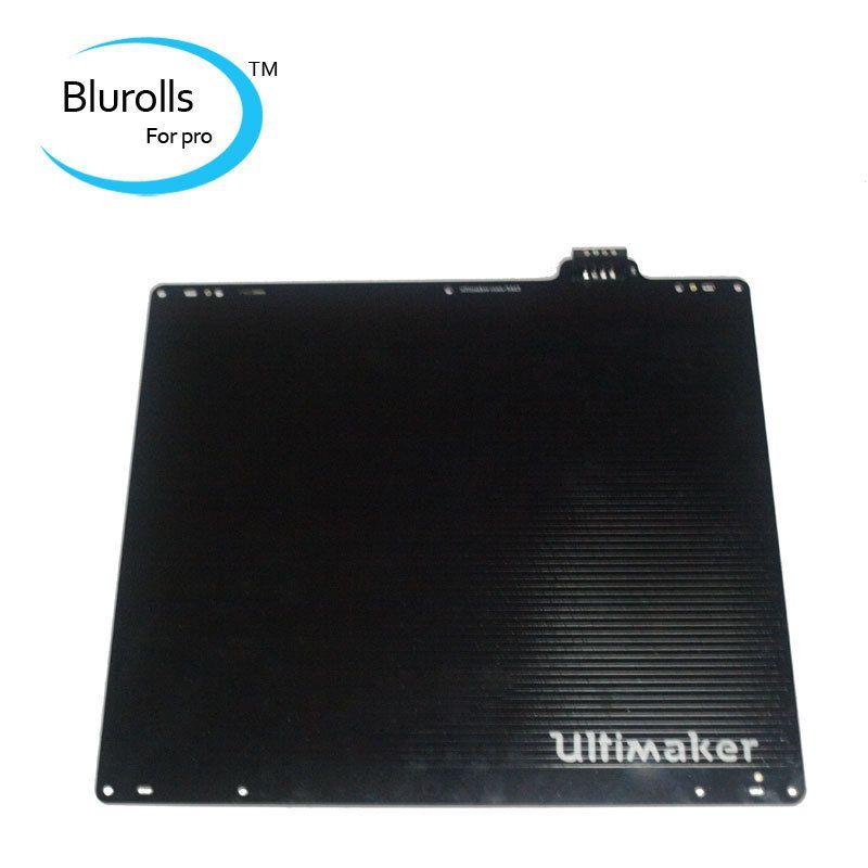 UM 2 Ultimaker 2 & 2 imprimante 3d étendue bricolage lit chauffant avec capteur PT100B aluminium ultimaker 2 plaque construite allemagne électrique
