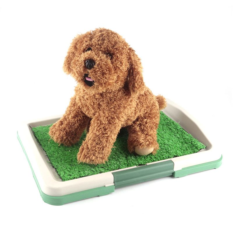 2017 New Indoor Dog <font><b>Toilet</b></font> Mat Puppy Potty Pad Training Seat Tray Dogs Toys Play Fake Grass Pet Supplies Products Accessories