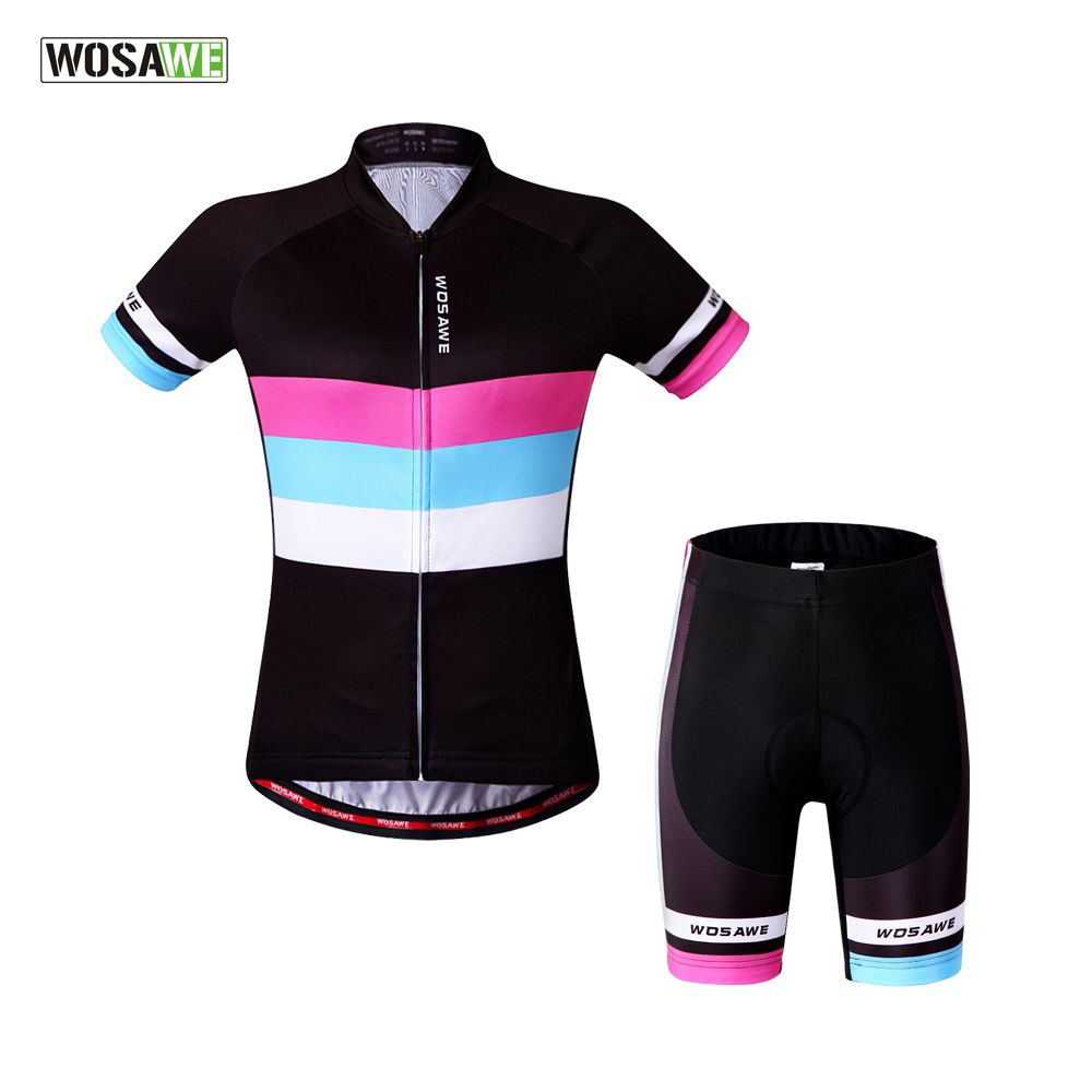WOSAWE Women Roupa Ciclismo Cycling Jerseys/ Bicycle Cycling Clothing/Quick-Dry Bike Sports Wear Sports Suit