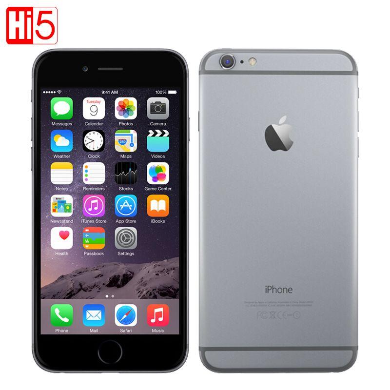 Déverrouillé Apple iPhone 6 standard/ajouter verre mobile téléphone 4.7 pouce Dual Core 16G/64G/128 GB Rom IOS 8MP Caméra 4 K vidéo LTE
