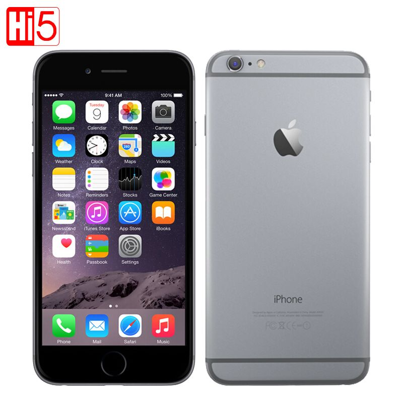 Unlocked Apple iPhone 6 standard/add glass mobile phone 4.7 inch Dual <font><b>Core</b></font> 16G/64G/128GB Rom IOS 8MP Camera 4K video LTE