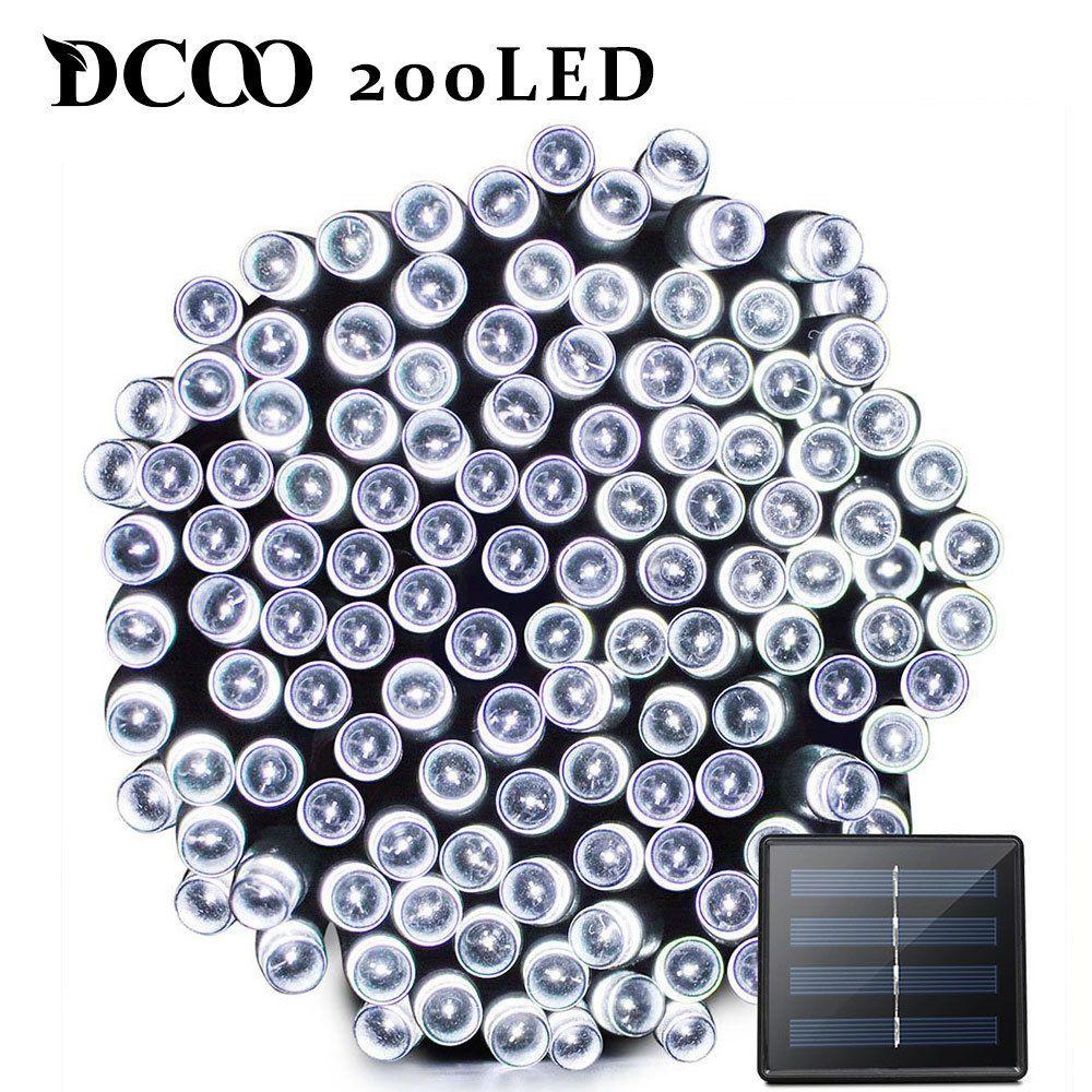 Dcoo LED lumière solaire 72ft 22 mètre 200 LED 8 Modes Tuinverlichting lumière de jardin LED lampe solaire éclairage de jardin lampe solaire extérieure