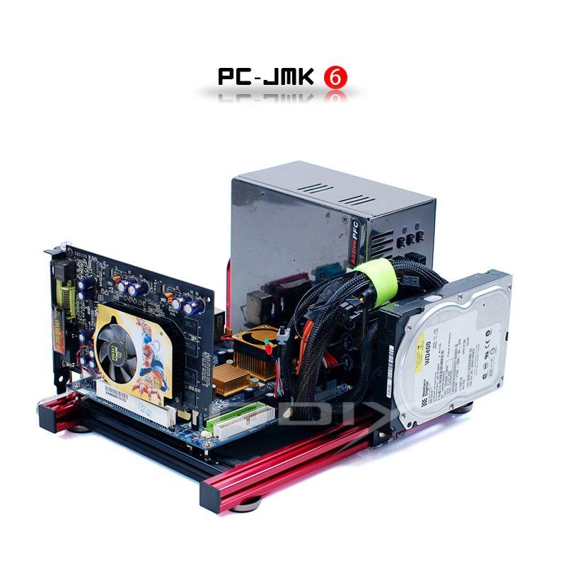 Qdiy PC-JMK6 Mini ITX large ouvrir nu nu cadre châssis en aluminium boîtier de l'ordinateur
