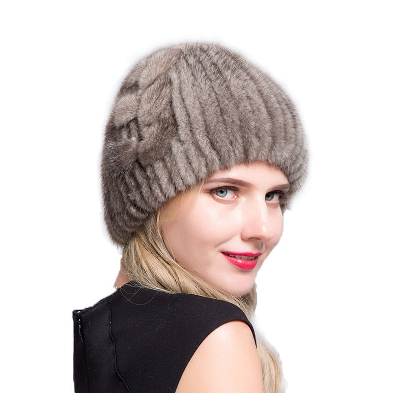 JERYAFUR 2018 Ski caps middle-aged women mink fur women knitted sweaters new fashions traveling in Europe and America