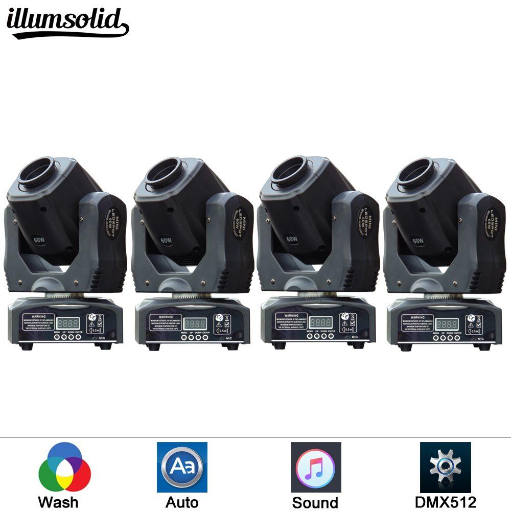 (4 pieces/lot) LED Mini moving head light 60w moving gobo dmx spot led effect dj lighting