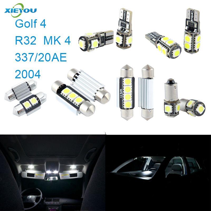 Xieyou 8 шт. LED Canbus Подсветка салона комплект Вышивка Крестом Пакет для Volkswagen VW Гольф 4 R32 МК 4 337/20ae 2004