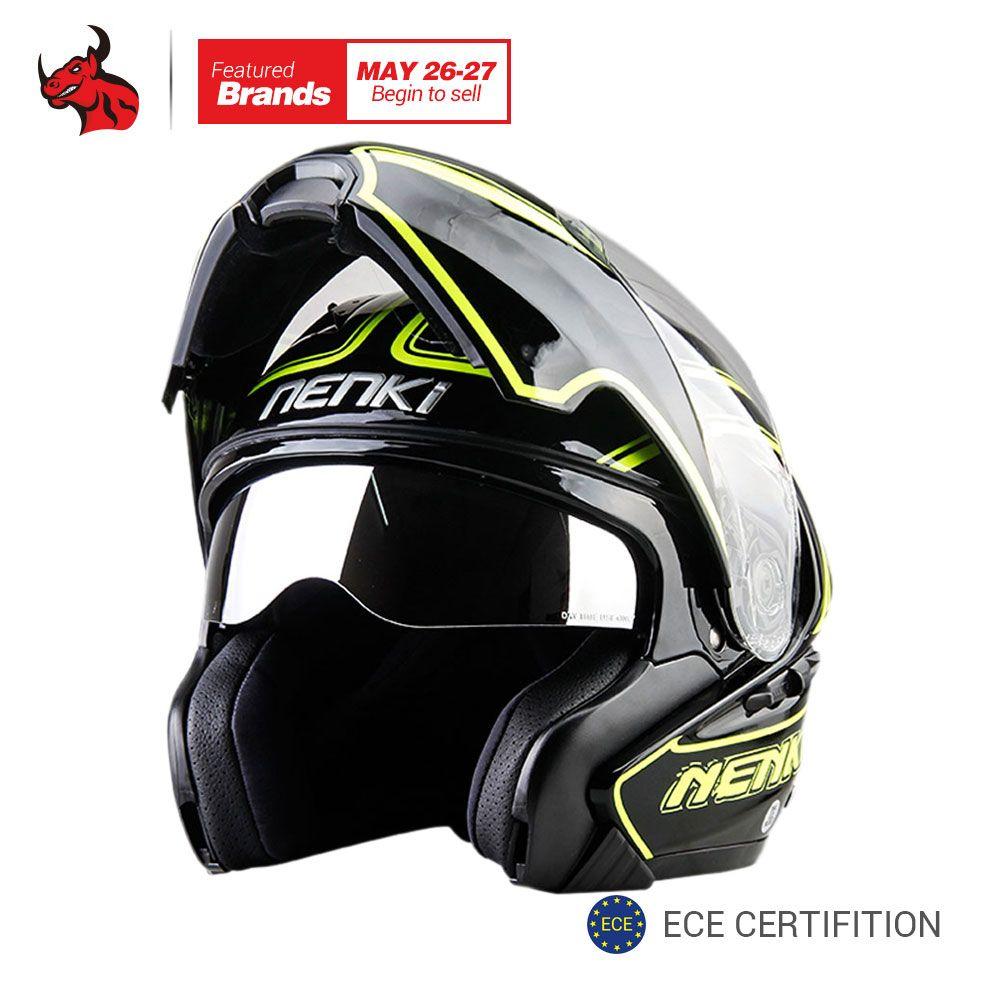 NENKI Motorcycle Helmet Double Lens Moto Helmet Men Women Full Face Motocross Helmet Capacete De Moto With DOT Certification
