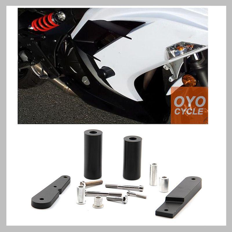 No Cut Rahmen Slider Für 2009-2011 Kawasaki Ninja 650 EX650 650R 2009 2010 2011 Crash Fallen Schutz Motorrad teile