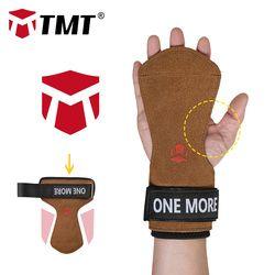 TMT Einstellbare Handgelenk Unterstützung Griffe Leder Palm Protektoren Hand Guards Gewichtheben Hantel Fitness Griffe GYM Handschuh Pull up
