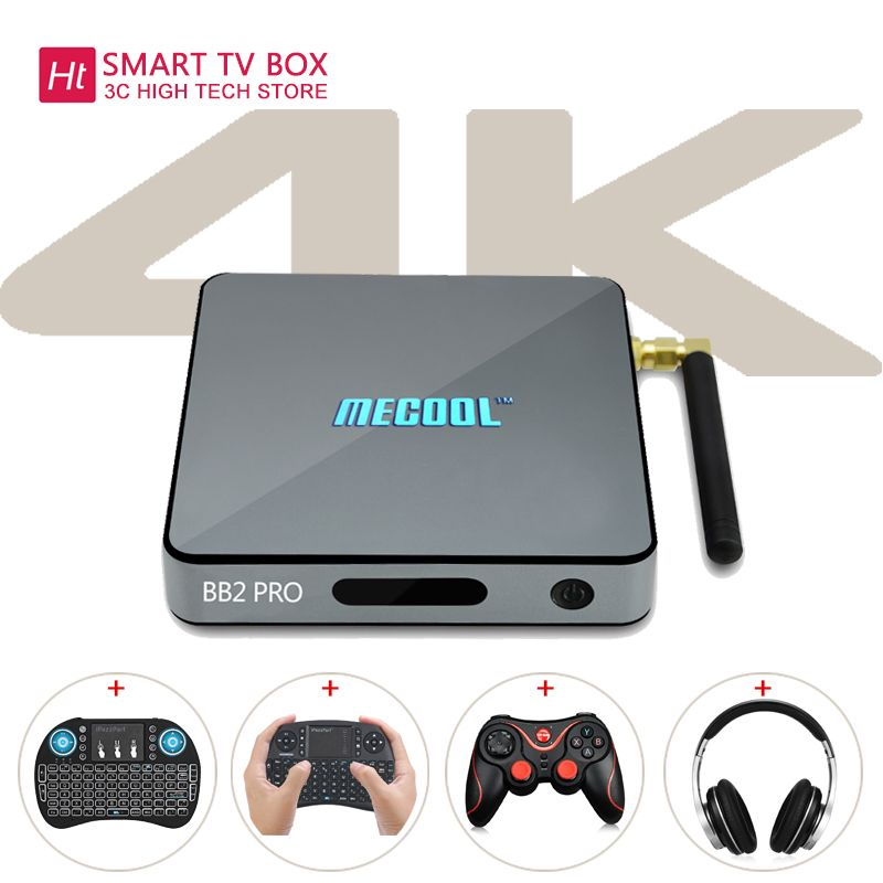 MECOOL BB2 PRO TV Box With Android TV 7.1 3GB DDR4 RAM 16GB ROM Support For <font><b>2.4GHz</b></font>+5.0GHz Dual Band WiFi Set-Top Boxes