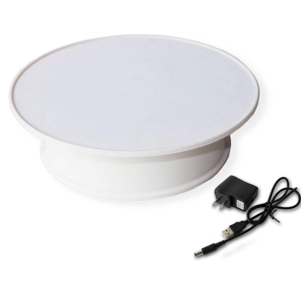 white velvet on top Rotating Turntable Decorating Revolving Modelling Tool Display Stand Plate For Jewelry Watch Digital Product