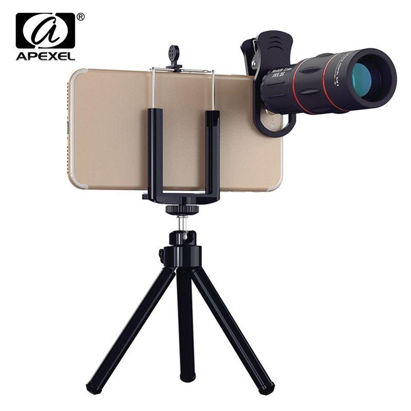 Universal 18X Télescope Optique Zoom Mobile Lentille de Téléphone pour iPhone Samsung XIAOMI Smartphones clip Telefon Camera Lens