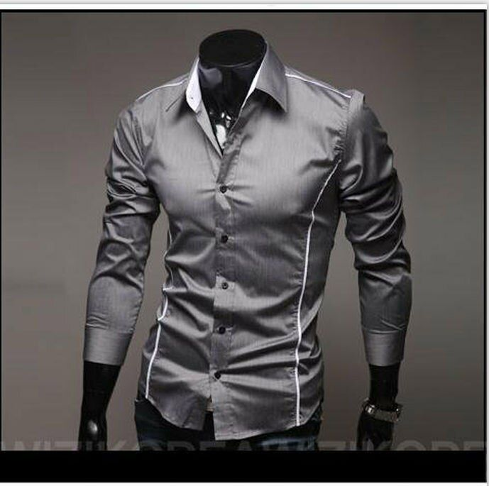 2016 autumn brand men cultivating long-sleeved shirt Social black dress shirt men's casual shirt men's clothing