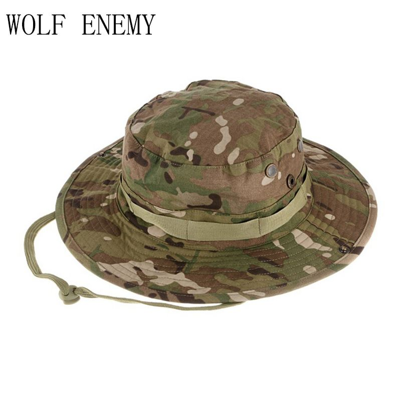 Haute qualité tactique Airsoft Sniper Camouflage Boonie chapeaux hommes et femmes en plein air casquette d'alpinisme militaire casquettes de chasse