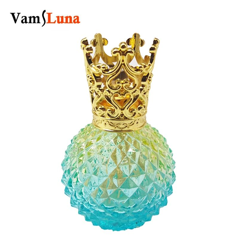 Flameless Essential Oil Diffuser - Fragrance Lamp Glass Bottle with Catalytic Incense Burning Wick for Aromatherapy
