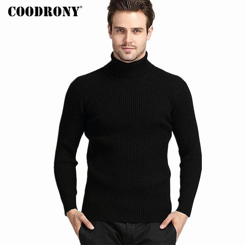 Coodrony зима толстые теплые 100% кашемировый свитер Для мужчин водолазка бренда Для мужчин S Свитеры для женщин Slim Fit пуловер Для мужчин Трикотаж ...