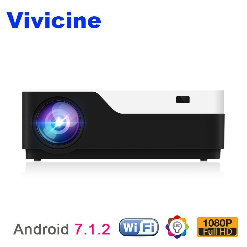 Vivicine M18 1920X1080 Real Full HD Projector, HDMI USB PC 1080p Home Multimedia Video Game Projector Proyector Beamer