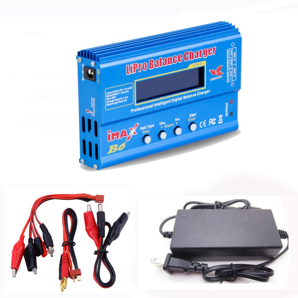 Build-power Hot Selling iMAX B6 80W Battery Charger Lipo NiMh Li-ion Ni-Cd Digital RC Balance Charger Discharger+15V 6A Adapter