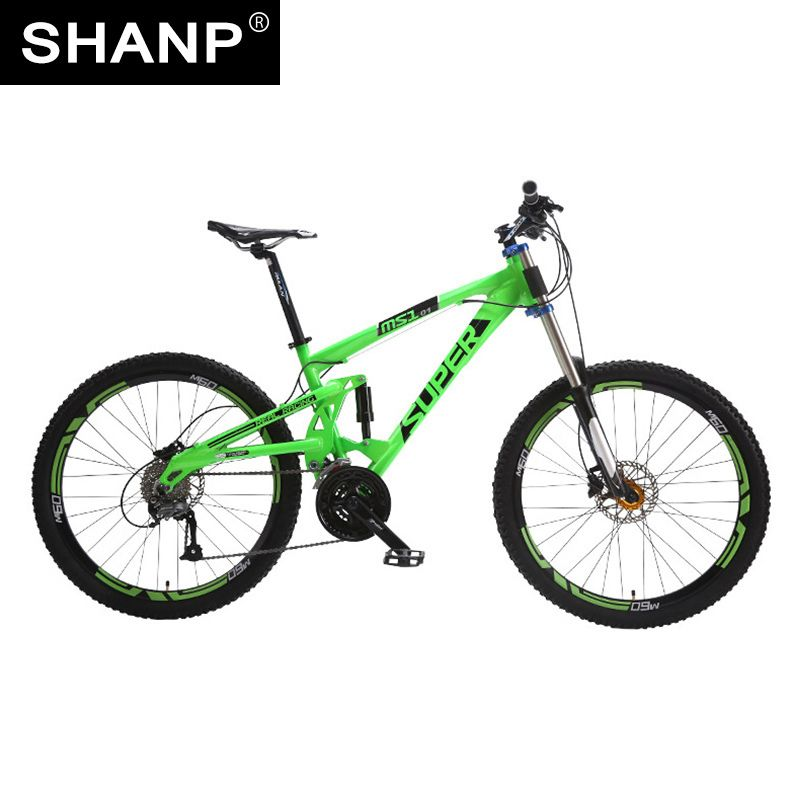 SUPER Mountainbike Full Suspension Aluminiumrahmen 24/27 Speed Hydraulische/Mechaniker 26