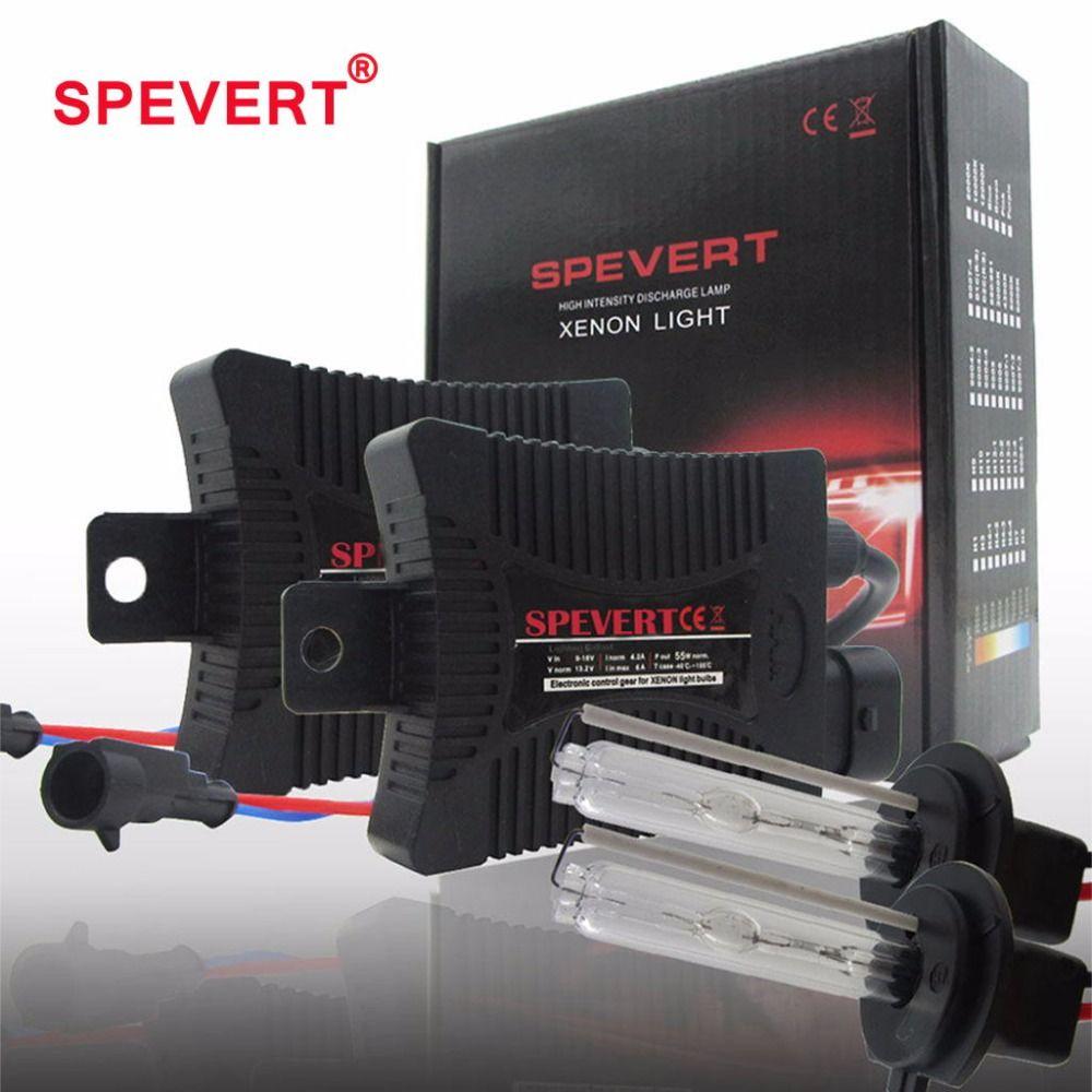 SPEVERT 55W Bi Xenon Light H1 H3 H7 H4/9003 H11 9004/5/6 H27 XENON HID KIT Bulbs SLIM BALLAST 6000K 8000K 12V Car Headlight Lamp