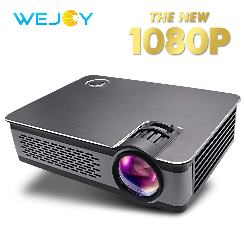 Wejoy L5 HD Mini ProjectorReal Portable 1080P High Resolution Brightness Home Theater VGA/HDMI/USB/AUDIO Function