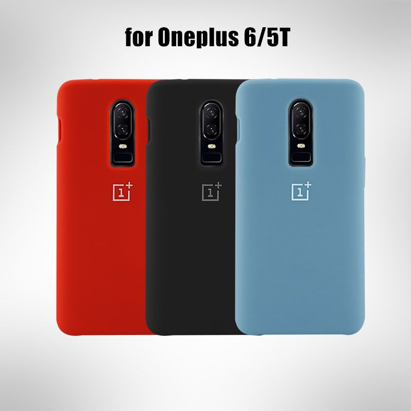 Oneplus 5 t cas avec logo de luxe silicone étui de protection mat de couverture arrière pour un plus 5 t oneplus 6 cas
