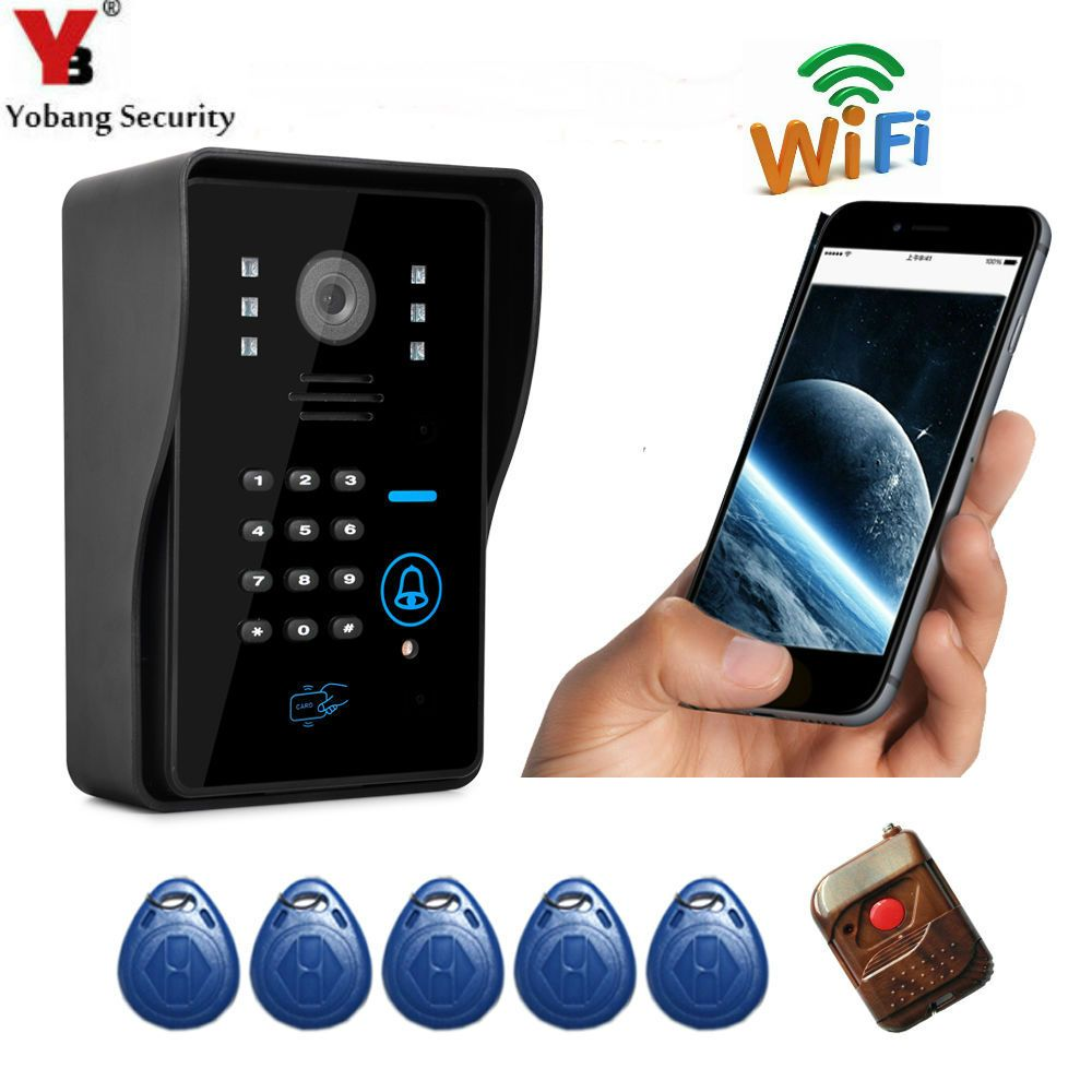 Yobang Security Apartment Wifi Video Door Phone Wireless Intercom Wifi Doorbell Support Motion Detect Alarm