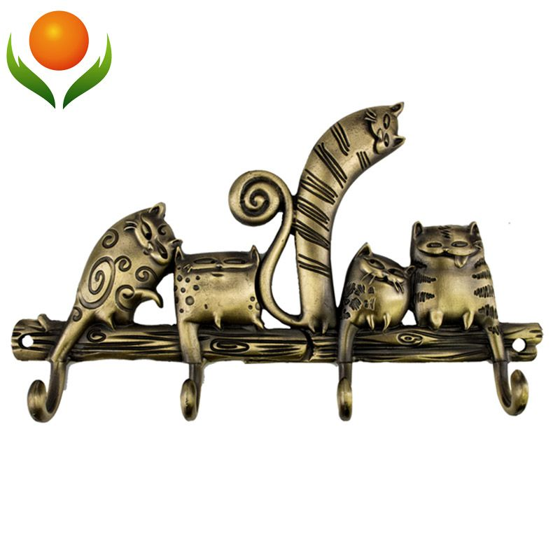 Free shipping CartoonCoat rack hook catwedding decoration metal hook hanger Originality crafts . russian gift Souvenirs