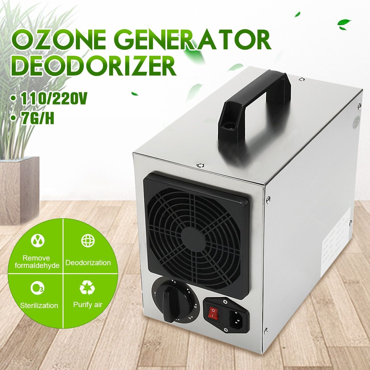 Home Commercial Ozone Generator 7g/h O3 Air Purifier Deodorizer 220V/110 Air Cleaner For Hospital Factory Home AU Plug