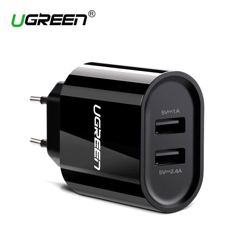 Ugreen 17 W Rapide USB Chargeur Double USB Mur Chargeur Adaptateur Universal Mobile Téléphone Chargeur pour iPhone 8 Samsung S8 Tablet chargeur