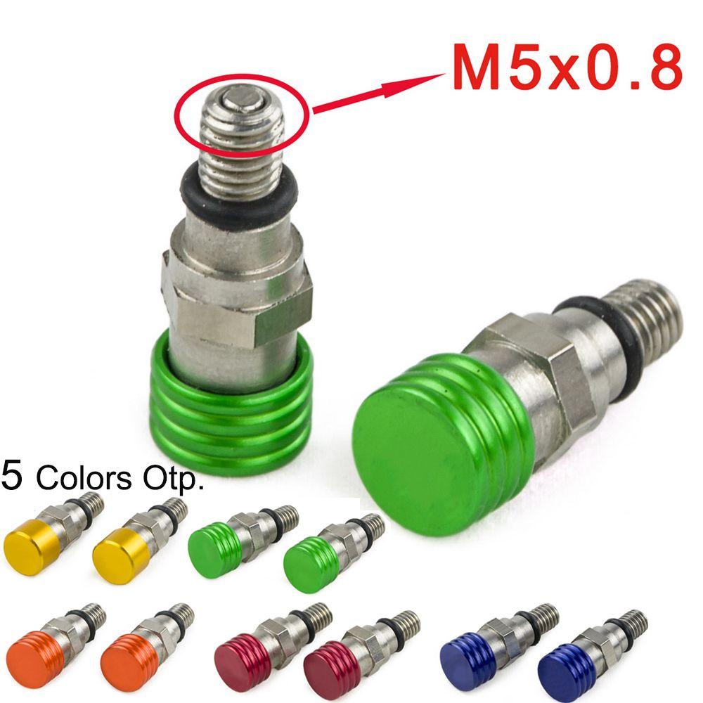 M5x0.8 Fork Air Bleeder Valves For Kawasaki KX 125 250 250F 450F KLX450R KLX KDX Yamaha YZ WR TTR Honda CR CRF Suzuki RM RMZ DRZ