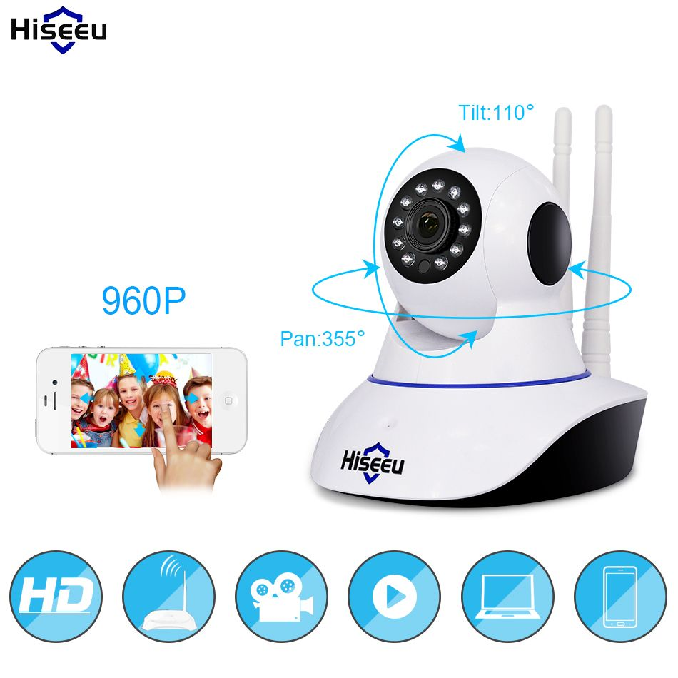 960P Wireless IP Camera Wifi Night Vision Camera IP Network Camera action with alarm CCTV WI-FI P2P 1.3MP Onvif Clear <font><b>voice</b></font> FH1B