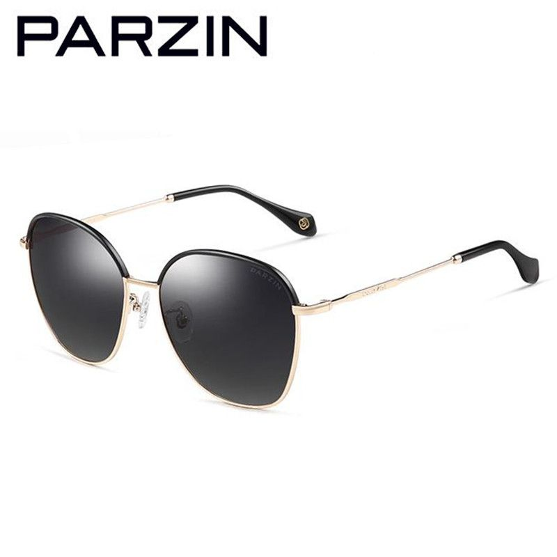 Parzin Metal Frame Men Sunglasses Colorful Oversized Polarized Men Sunglasses Male Driving Glasses With Case 8071