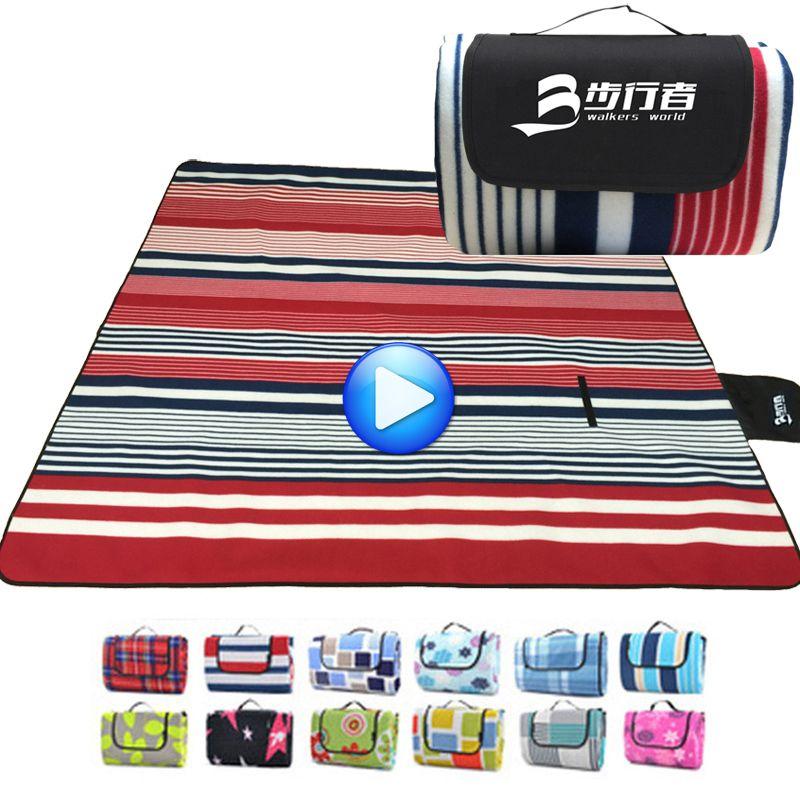 200*200 CM Strandmatte Tragbare Camping Matratze Sleeping Pad Folding Yogamatte Wasserdichte Picknickdecke Baby Zelt Sand kostenlose Mat