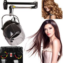 (Ship from Germany) Swing Arm Wall Mounted Hair Dryer Hood Salon Hair-styling Adjustable Temperature